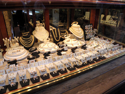 Jewelry Display on the Ponte Vecchio