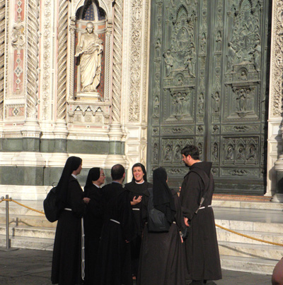 Gathering at the Duomo