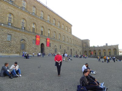 Outside of the Pitti Palace