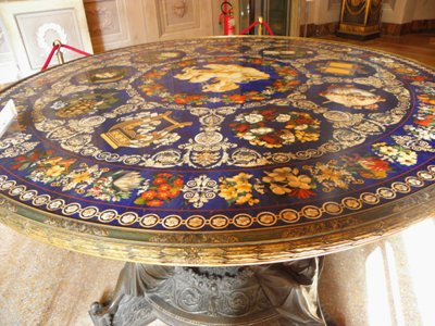 Ornate table top in the Pitti Palace